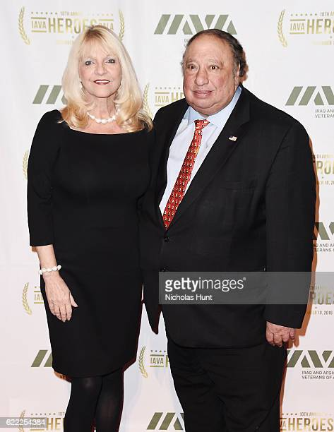 Margo Vondersaar and John Catsimatidis attend the 2016 IAVA Heroes Gala at Cipriani 42nd Street on November 10 2016 in New York City