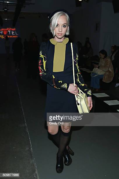 Margot attends the Giulietta fashion show during Fall 2016 New York Fashion Week at Pier 59 Studios on February 12 2016 in New York City