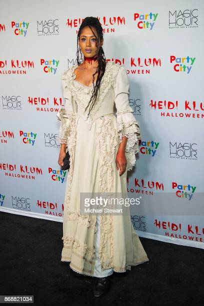 Margot Bingham attends Heidi Klum's 18th Annual Halloween Party at Magic Hour Rooftop Bar Lounge on October 31 2017 in New York City
