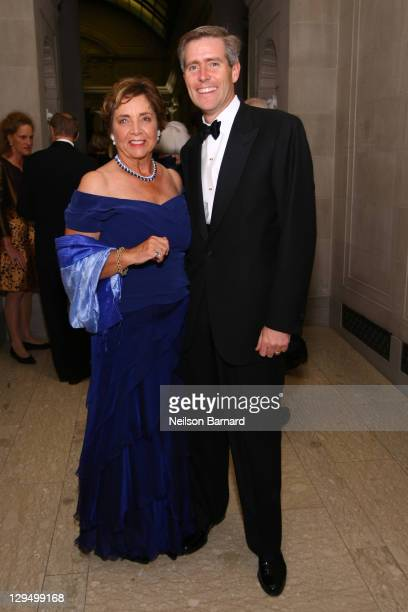 Margot Bogert and Henry P Johnson attend the 2011 Frick Collection Autumn Dinner Honoring Anne L Poulet at The Frick Collection on October 17 2011 in...