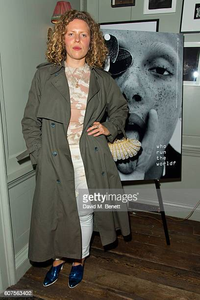 Margot Bowman attends the launch of i-D's 'The Female Gaze' issue hosted by Holly Schkleton and Adwoa Aboah during London Fashion Week Spring Summer...