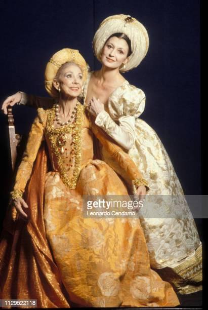 Margot Fonteyn and Carla Fracci Milan Italy February 1991