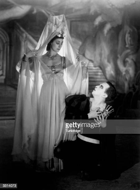 Margot Fonteyn and Robert Helpmann at the Sadler's Wells Ballet, in a production of Hamlet.