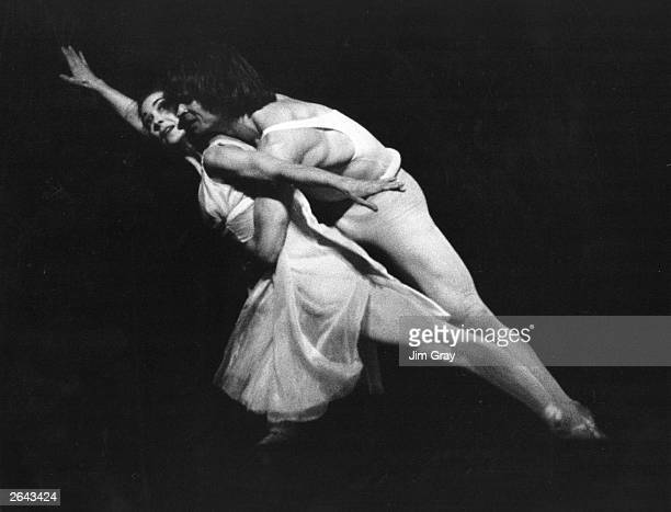 Margot Fonteyn the English ballerina is rehearsing with Rudolf Nureyev the Russian ballet dancer born in Siberia They are appearing in Roland Petit's...
