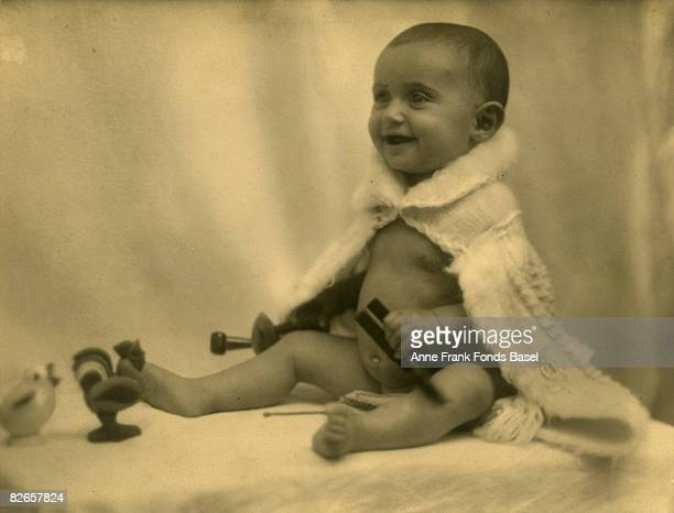 Margot Frank sister of Anne Frank as a baby circa 1926