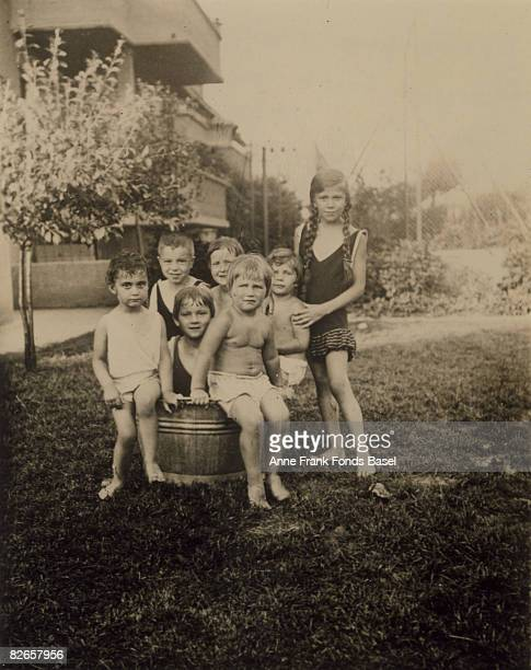 Margot Frank sister of Anne Frank in Frankfurt am Main with other children from the neighbourhood circa 1928