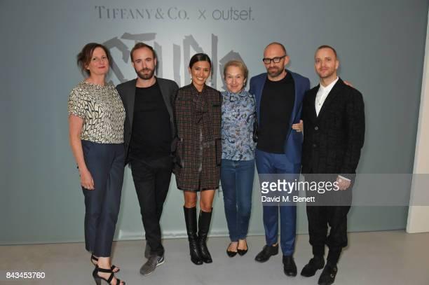 Margot Heller Sam Thorne Hikari Yokoyama Justine Picardie Richard Moore and Eddie Peake attend The 2017 Tiffany Co and Outset Studiomakers Prize at...