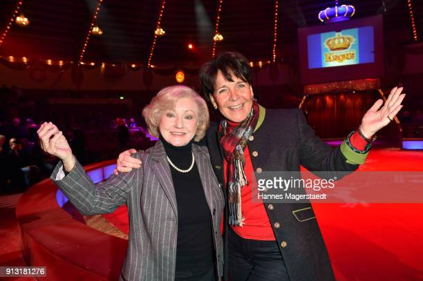 Margot Hellwig and Gerda Steiner during Circus Krone celebrates premiere of 'Hommage' at Circus Krone on February 1 2018 in Munich Germany