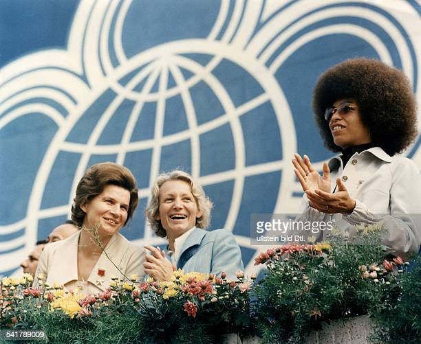 GDR Margot Honecker * Politician wife of East Germany's former Head of State Erich Honecker Margot Honecker woman cosmonaut Valentina Tereshkova and...