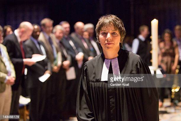 Margot Kaessmann attends a ceremony at which she was officially appointed in her new position as ambassador of the Lutheran Church at the...