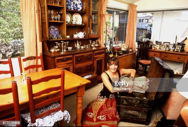 Margot Kidder actress at home after recovering from a near fatal illness September 9 1992 Hollywood Hills Hollywood California