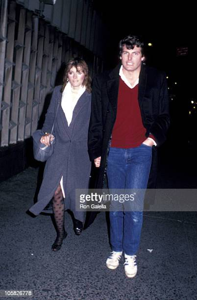 Margot Kidder and Christopher Reeve during Margot Kidder and Christopher Reeve Sighting November 1 1982 in New York City New York United States