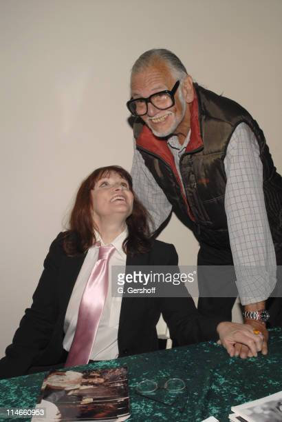 Margot Kidder and George A Romero during 2006 Big Apple Comic Book Convention Press Reception at Penn Plaza Pavilion in New York City New York United...