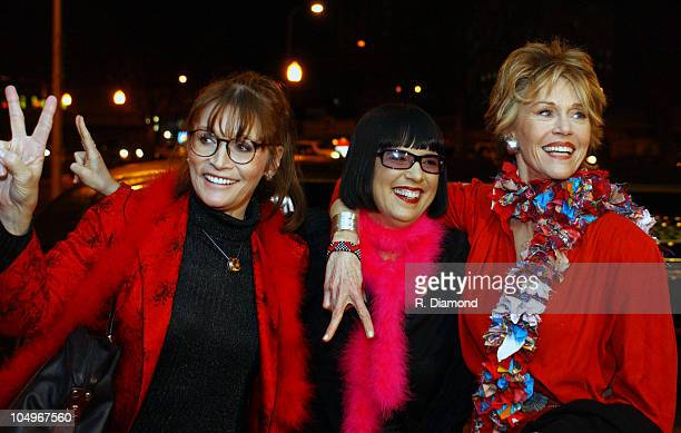 Margot Kidder Eve Ensler and Jane Fonda during VDAY Atlanta 2004 at The CocaCola Roxy Theatre in Atlanta Georgia United States