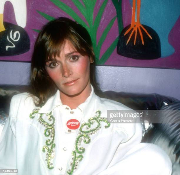 Margot Kidder poses for a candid photo August 1 1980 in New York City while campaigning for John Anderson for President