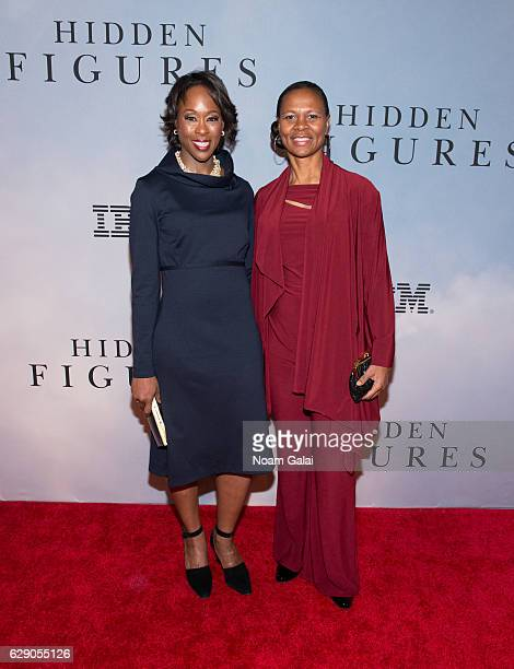 Margot Lee Shetterly and NASA astronaut Yvonne Cagle attend the Hidden Figures New York special screening on December 10 2016 in New York City