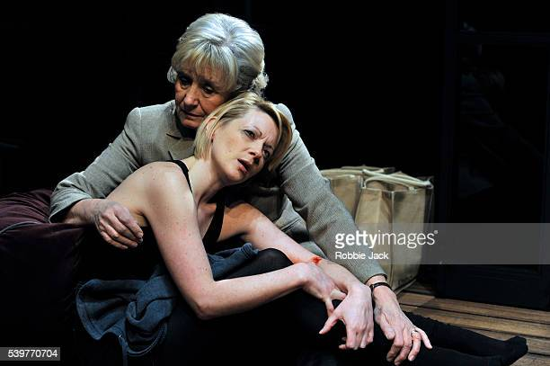 Margot Leicester as Barbara and Lisa Dillon as Lucy in David Eldridge's The Knot Of The Heart at the Almeida Theatre in London
