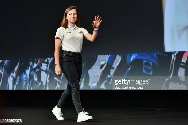 Margot POMPANON during the presentation of the Tour de France 2022 at Palais des Congres on October 14, 2021 in Paris, France.