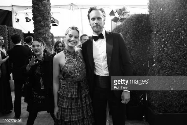 Margot Robbie and Alexander Skarsgård attend the 26th Annual Screen Actors Guild Awards at The Shrine Auditorium on January 19 2020 in Los Angeles...