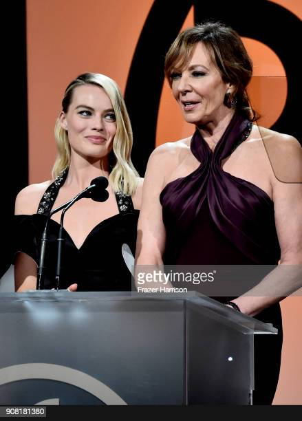 Margot Robbie and Allison Janney at the 29th Annual Producers Guild Awards at The Beverly Hilton Hotel on January 20 2018 in Beverly Hills California