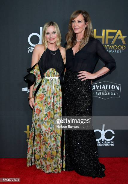 Margot Robbie and Allison Janney attend the 21st Annual Hollywood Film Awards at The Beverly Hilton Hotel on November 5 2017 in Beverly Hills...