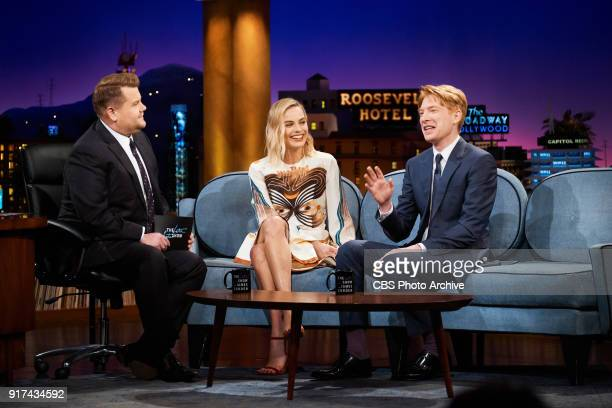 Margot Robbie and Domhall Gleeson chat with James Corden during 'The Late Late Show with James Corden' Monday February 5 2018 On The CBS Television...