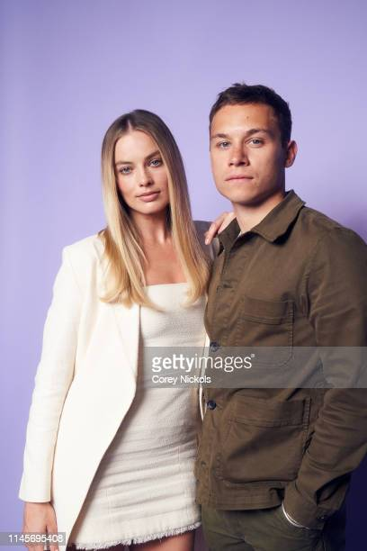 Margot Robbie and Finn Cole of the film 'Dreamland' pose for a portrait during the 2019 Tribeca Film Festival at Spring Studio on April 28 2019 in...