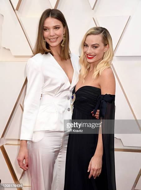 Margot Robbie and guest attend the 92nd Annual Academy Awards at Hollywood and Highland on February 09 2020 in Hollywood California