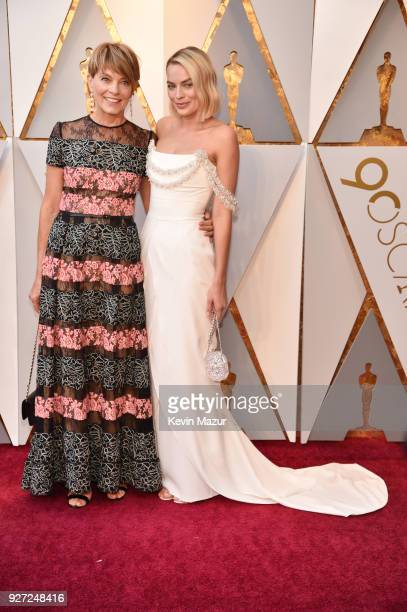 Margot Robbie and Sarie Kessler attend the 90th Annual Academy Awards at Hollywood Highland Center on March 4 2018 in Hollywood California