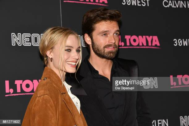 26acb00a16 Margot Robbie and Sebastian Stan attend the  I Tonya  New York Premiere at  Village
