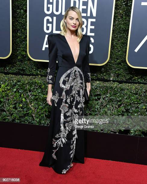 Margot Robbie arrives at the 75th Annual Golden Globe Awards at The Beverly Hilton Hotel on January 7 2018 in Beverly Hills California