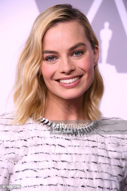 Margot Robbie arrives at the 90th Annual Academy Awards Nominee Luncheon at The Beverly Hilton Hotel on February 5 2018 in Beverly Hills California