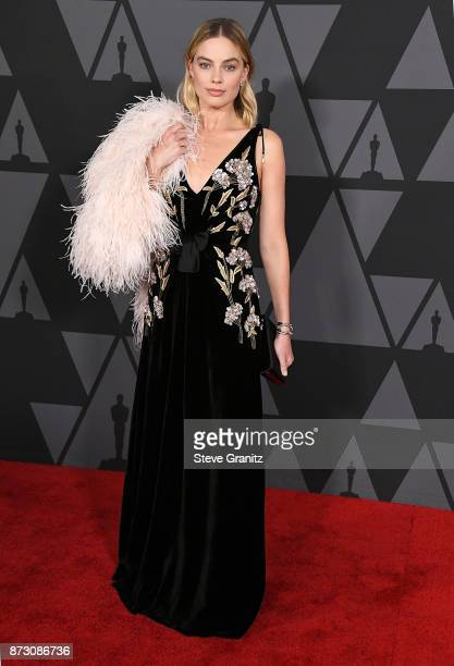Margot Robbie arrives at the Academy Of Motion Picture Arts And Sciences' 9th Annual Governors Awards at The Ray Dolby Ballroom at Hollywood Highland...