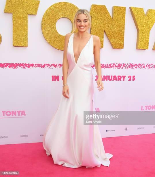 Margot Robbie arrives at the Australian Premiere of 'I Tonya' on January 23 2018 in Sydney Australia
