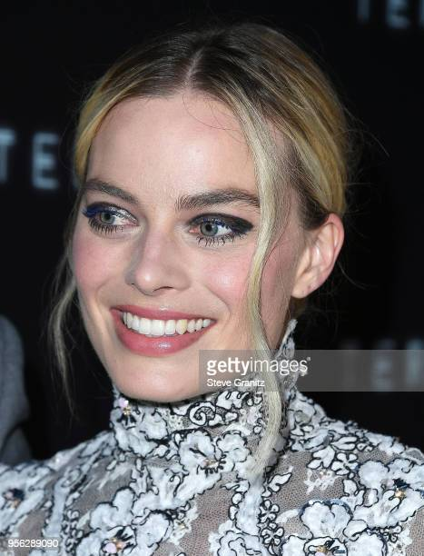 Margot Robbie arrives at the Premiere Of RLJE Films' 'Terminal' at ArcLight Cinemas on May 8 2018 in Hollywood California