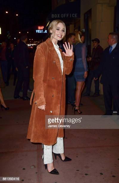Margot Robbie arrives to the 'I Tonya' New York Premiere at Village East Cinema on November 28 2017 in New York City