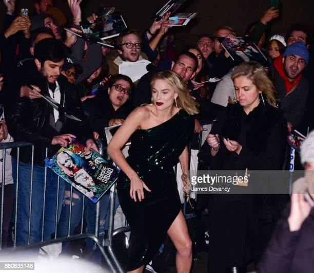 Margot Robbie arrives to the IFP's 27th Annual Gotham Independent Film Awards at Cipriani Wall Street on November 27 2017 in New York City