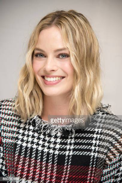 Margot Robbie at the 'Goodbye Christopher Robin' Press Conference at the Langham Hotel on September 19 2017 in London England