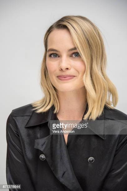 Margot Robbie at the 'I Tonya' Press Conference at the Four Seasons Hotel on November 20 2017 in Beverly Hills California