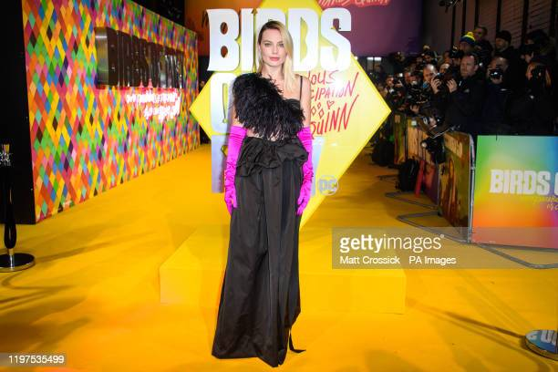 Margot Robbie attending the world premiere of Birds of Prey and the Fantabulous Emancipation of One Harley Quinn held at the BFI IMAX London