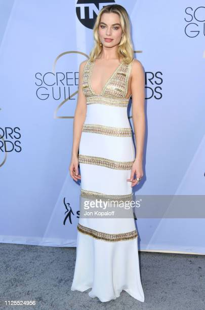 Margot Robbie attends 25th Annual Screen Actors Guild Awards at The Shrine Auditorium on January 27 2019 in Los Angeles California