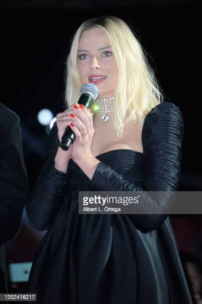 Margot Robbie attends A Night of Music and Mayhem in Harleywood hosted by the cast of Bird Of Prey held at Hollywood and Highland on January 23 2020...