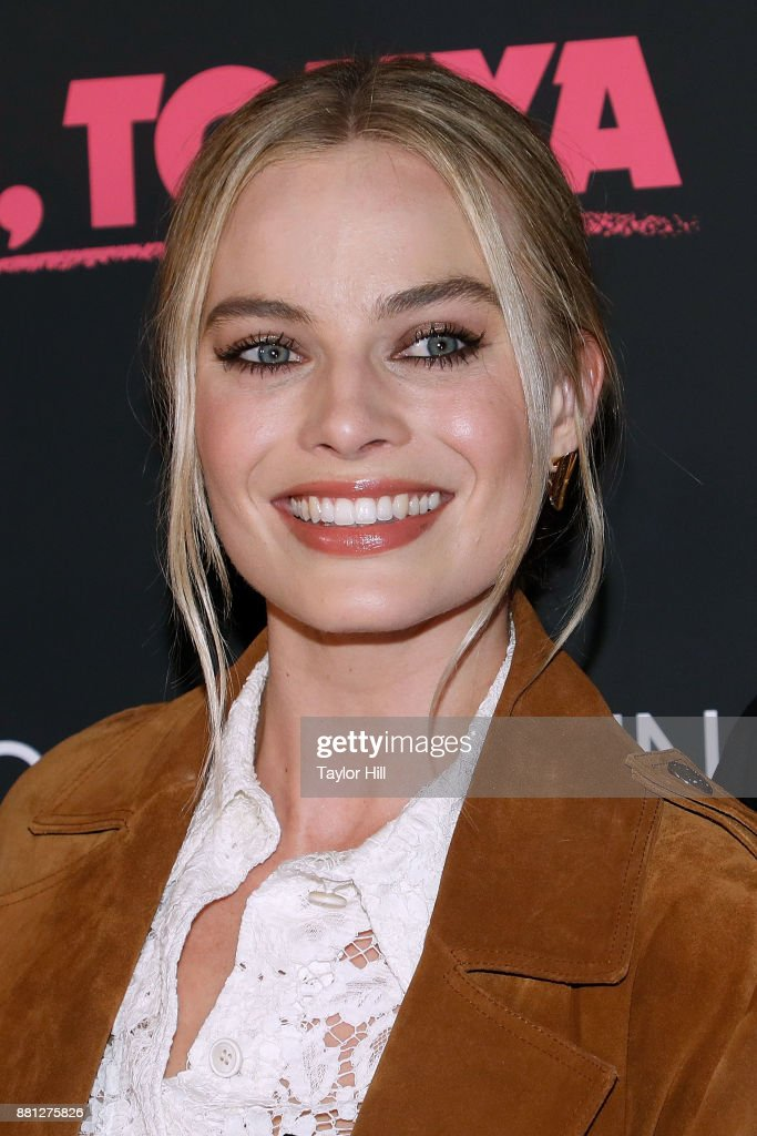 Margot Robbie attends a screening of 'I, Tonya' at Village East Cinema on November 28, 2017 in New York City.