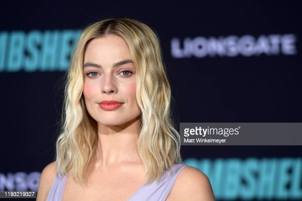 """Margot Robbie attends a Special Screening of Liongate's """"Bombshell"""" at Regency Village Theatre on December 10, 2019 in Westwood, California."""