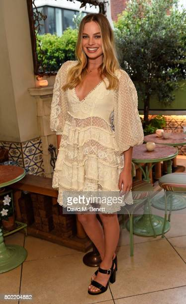 Margot Robbie attends an intimate dinner hosted by Nicky Zimmermann and Margot Robbie to celebrate the opening of the Zimmermann London Flagship...