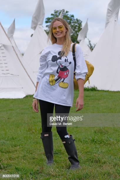 Margot Robbie attends day two of Glastonbury on June 24 2017 in Glastonbury England