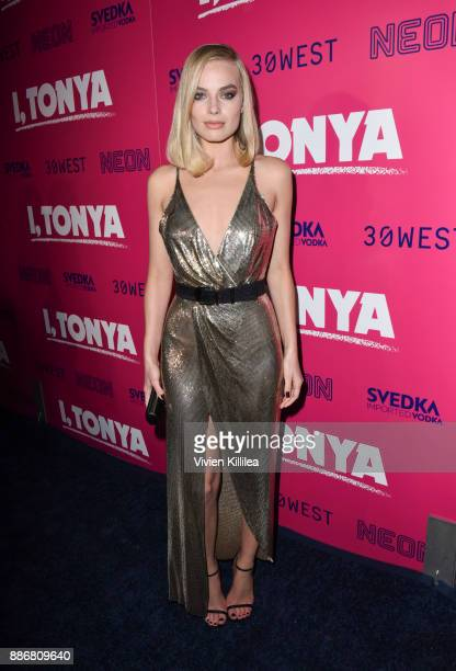 Margot Robbie attends NEON and 30WEST Present the Los Angeles Premiere of I Tonya Supported By Svedka on December 5 2017 in Los Angeles California