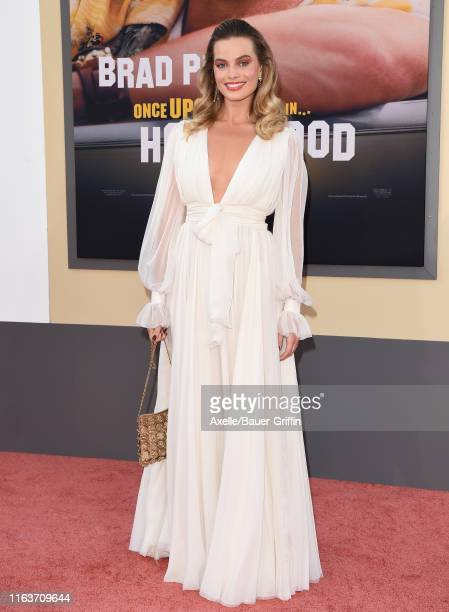 Margot Robbie attends Sony Pictures' Once Upon a Time in Hollywood Los Angeles Premiere on July 22 2019 in Hollywood California