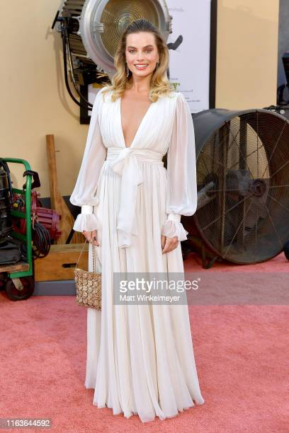 "Margot Robbie attends Sony Pictures' ""Once Upon A Time...In Hollywood"" Los Angeles Premiere on July 22, 2019 in Hollywood, California."