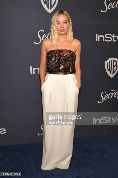 Margot Robbie attends The 2020 InStyle And Warner Bros. 77th Annual Golden Globe Awards Post-Party at The Beverly Hilton Hotel on January 05, 2020 in...